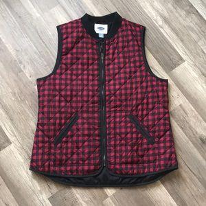 Old Navy checkered vest